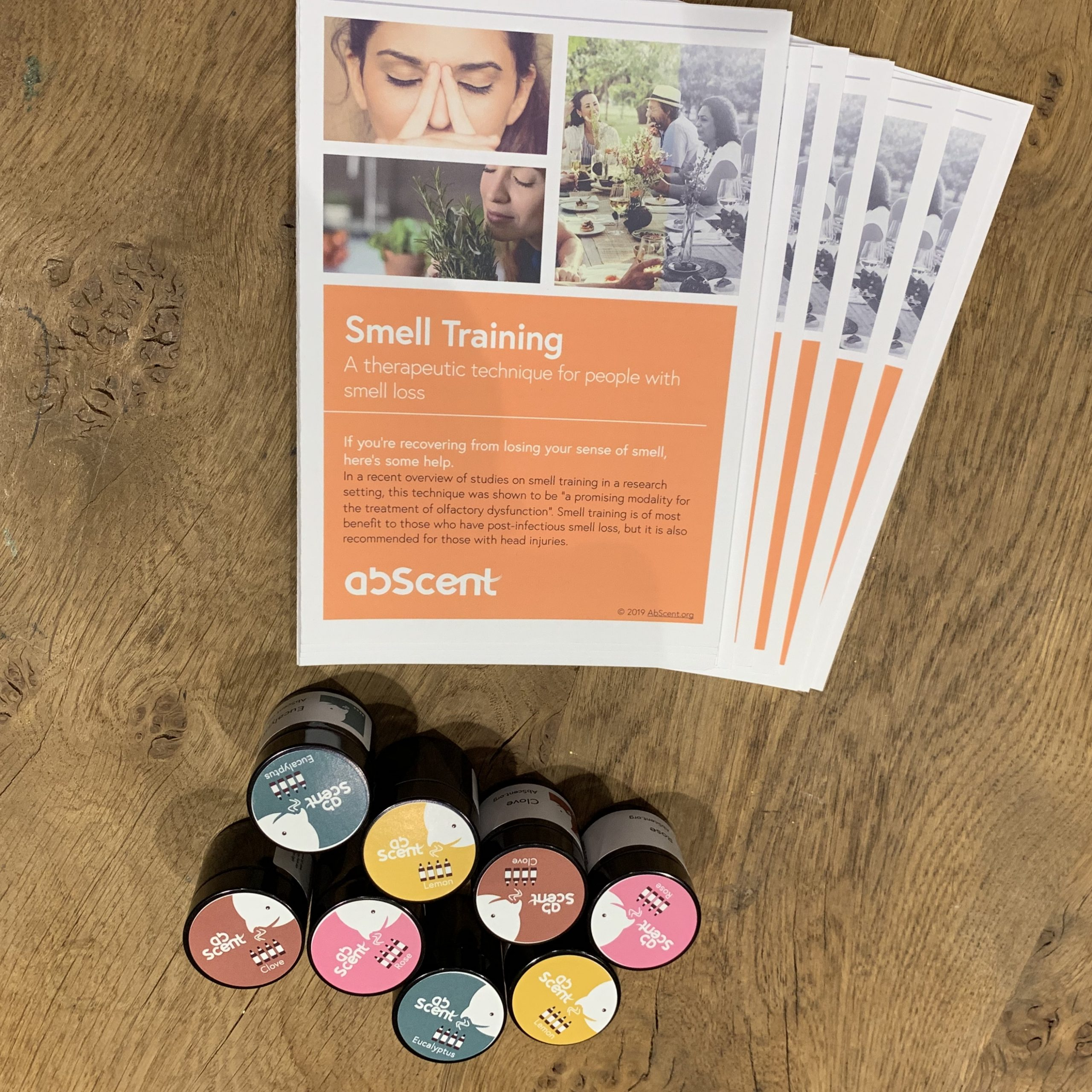 AbScent literature and smell training jars